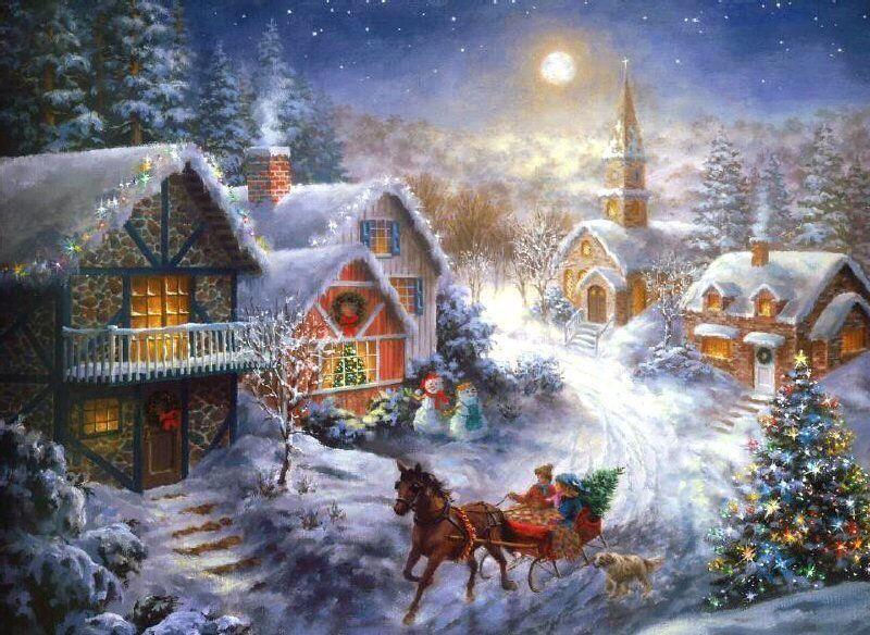 17x48 Beau Bendig Fensterbild Père Noël avec son rentable