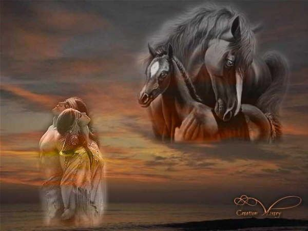 Couple d indiens centerblog - Dessin anime indien cheval ...